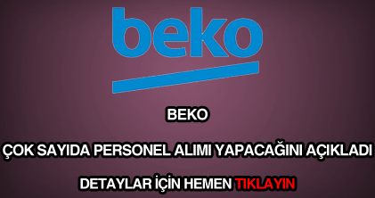 Beko personel alımı