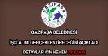 Gazipaşa Belediyesi işçi alımı