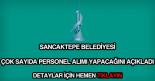 Sancaktepe Belediyesi personel alımı