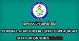 Şırnak Üniversitesi personel alımı