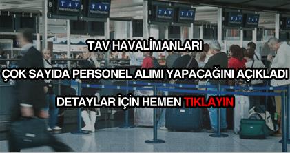 Tav Havalimanları personel alımı