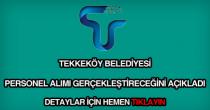 Tekkeköy Belediyesi personel alımı