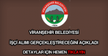 Viranşehir Belediyesi işçi alımı