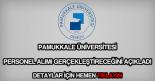 Pamukkale Üniversitesi personel alımı