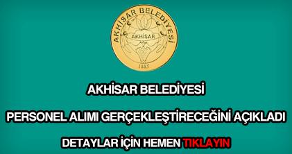 Akhisar Belediyesi personel alımı