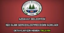Azdavay Belediyesi işçi alımı