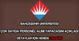 Bahçeşehir Üniversitesi personel alımı