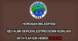 Horosan Belediyesi işçi alımı