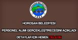 Horosan Belediyesi personel alımı