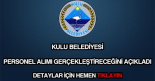 Kulu Belediyesi personel alımı
