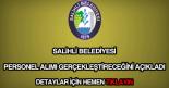 Salihli Belediyesi personel alımı