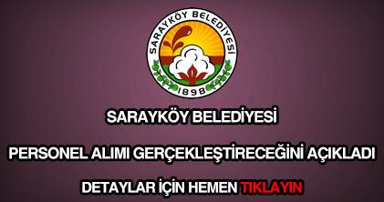 Sarayköy Belediyesi personel alımı
