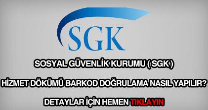 SGK hizmet dökümü barkod doğrulama