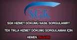 SGK hizmet dökümü sorgulama