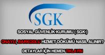 SGK onaylı barkodlu hizmet dökümü belgesi