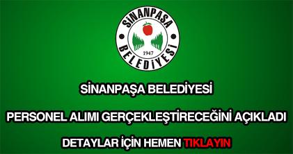 Sinanpaşa Belediyesi personel alımı