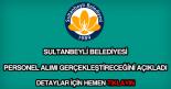 Sultanbeyli Belediyesi personel alımı