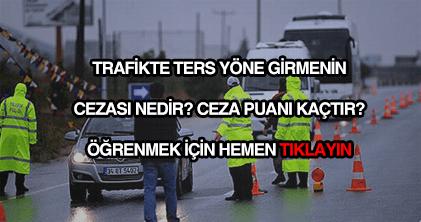Trafikte ters yöne girmenin cezası nedir?