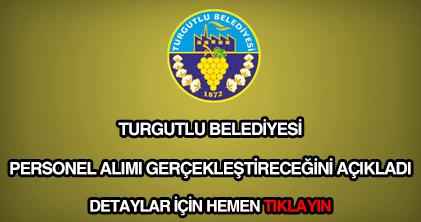 Turgutlu Belediyesi personel alımı