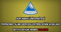 Adıyaman Üniversitesi personel alımı