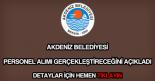 Akdeniz Belediyesi personel alımı