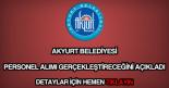 Akyurt Belediyesi personel alımı