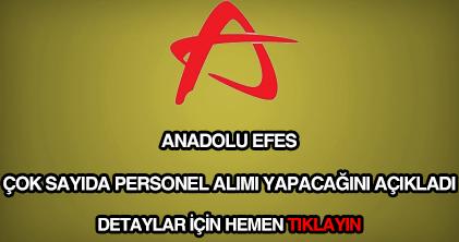 Anadolu Efes personel alımı