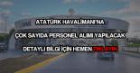 Atatürk Havalimanı personel alımı