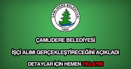 Çamlıdere Belediyesi işçi alımı