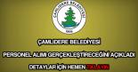 Çamlıdere Belediyesi personel alımı