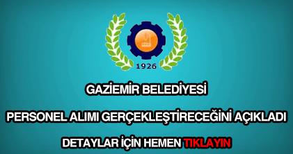 Gaziemir Belediyesi personel alımı