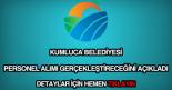 Kumluca Belediyesi personel alımı