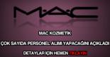 Mac Kozmetik personel alımı
