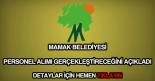 Mamak Belediyesi personel alımı