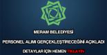 Meram Belediyesi personel alımı