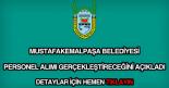 Mustafakemalpaşa Belediyesi personel alımı