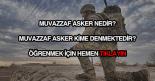 Muvazzaf asker nedir?