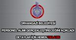 Orhangazi Belediyesi personel alımı