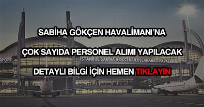 Sabiha Gökçen Havalimanı personel alımı