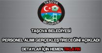 Taşova Belediyesi personel alımı