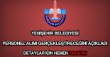 Bursa Yenişehir Belediyesi personel alımı