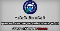 Vezirköprü Belediyesi personel alımı