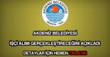 Akdeniz Belediyesi işçi alımı