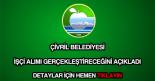 Çivril Belediyesi işçi alımı