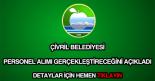 Çivril Belediyesi personel alımı