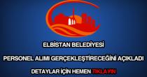 Elbistan Belediyesi personel alımı