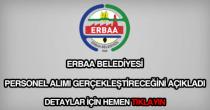 Erbaa Belediyesi personel alımı