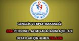 Gençlik ve Spor Bakanlığı 3200 personel alımı