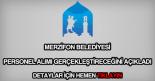 Merzifon Belediyesi personel alımı
