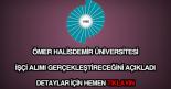 Ömer Halisdemir Üniversitesi işçi alımı